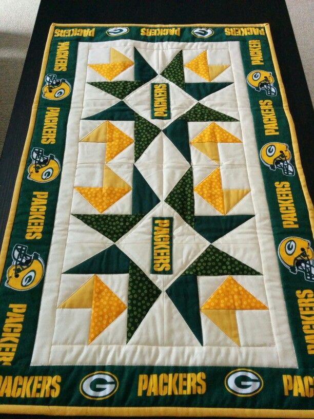 Green Bay Packers Quilt by @gdimsdal