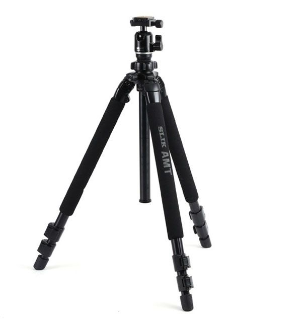 NEW SLIK Pro 3-Way 500DX Tripod With SBH-200DS Ball Head EMS Fast Free shipping