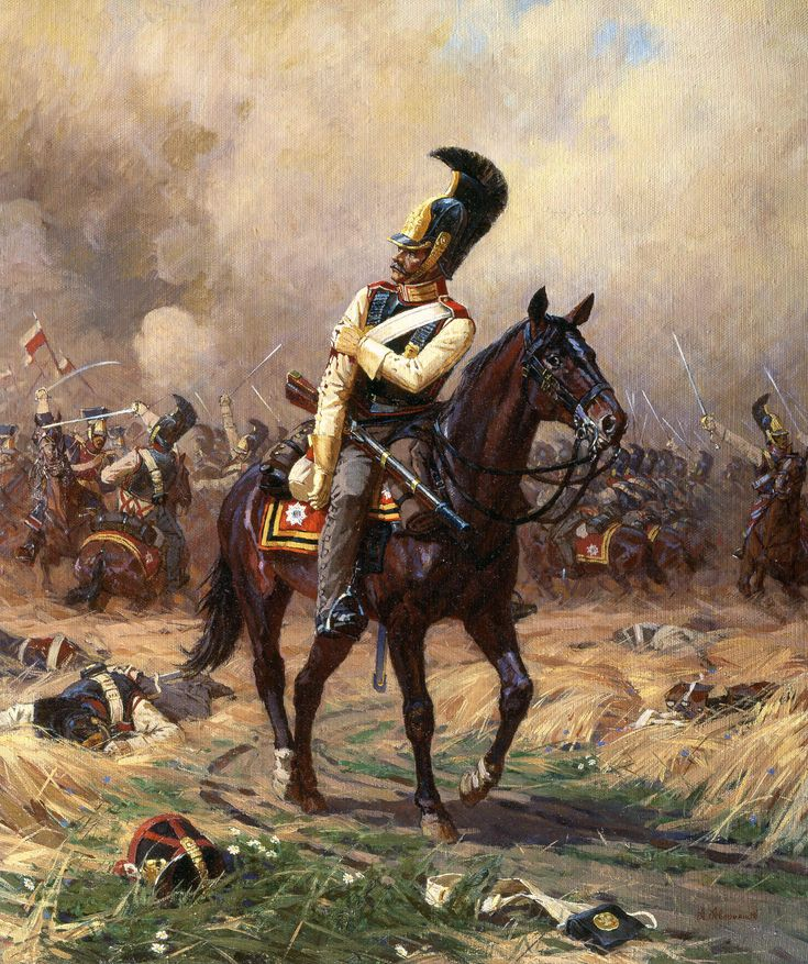 russian cavalry ate the battle of borodino