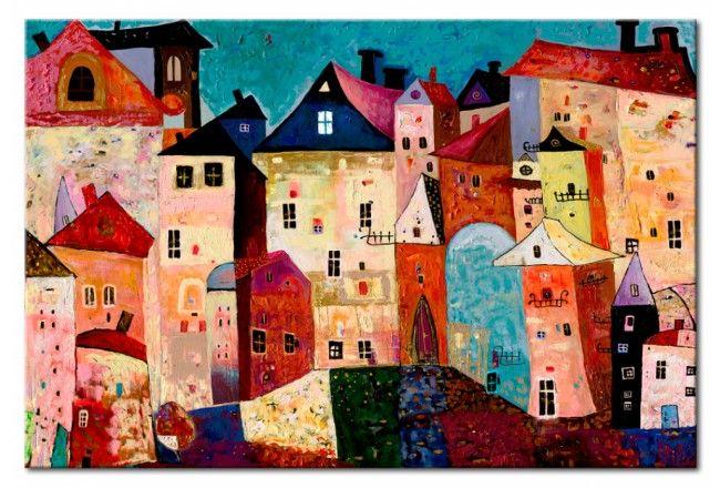 Sconsiglierei i colori troppo lucidi, danno una. Quadro Moderno Artistic City Dipingere Idee Murale Dipingere Immagini