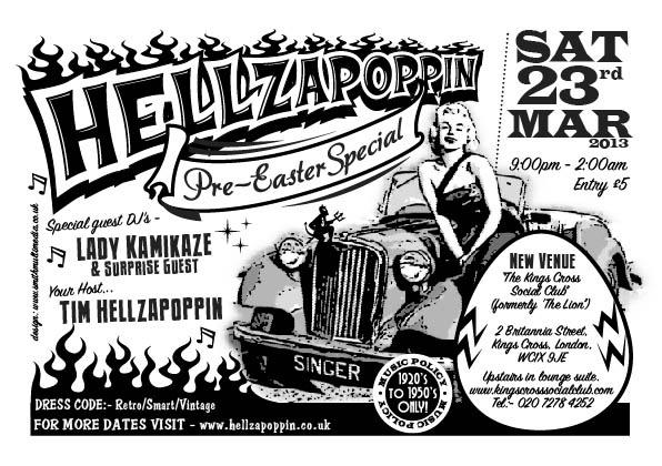 Hellzapoppin March Flyer by www.smithdesign.org