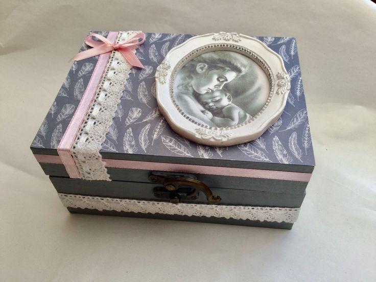 Boîte à bijoux ou fourre tout décor Mère et enfant : Boîtes, coffrets par arc-en-ciel-creatif