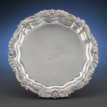 Tiffany Chrysanthemum Sterling Silver Tray ~ M.S. Rau Antiques