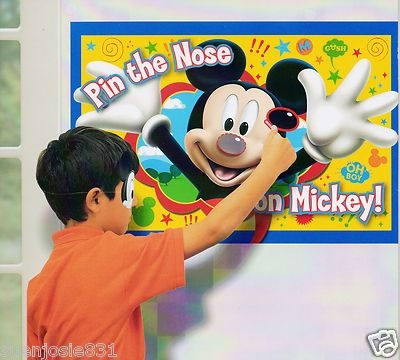 Disney Mickey Mouse Clubhouse Mickey Mouse Pin the Nose on Mickey Party Game