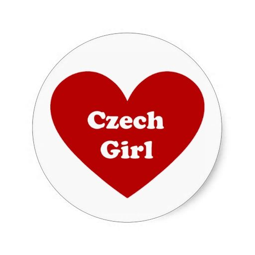 czech girl round stickers