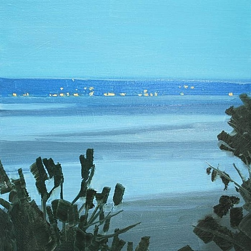 Sara MacCulloch, Low Tide Evening  2012, Oil on canvas