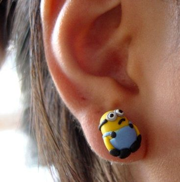 Despicable Me Minion Earring...Amazing!