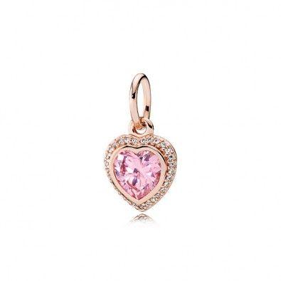 Sparkling Love Pendant - PANDORA Rose Cheap Sale