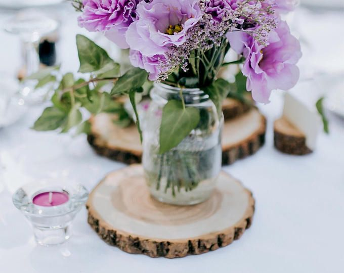 """10"""" Set of 15! Rustic wedding decor, wood slices for sale, wood chargers, wood centerpieces, wedding centerpieces, wood slabs!"""