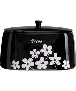 Black Scatter Floral Bread Bin.