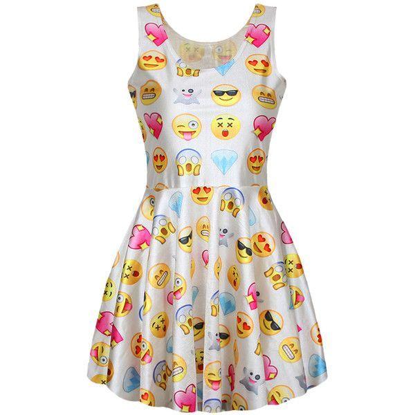 A very stylish dress with #emoji's on it.
