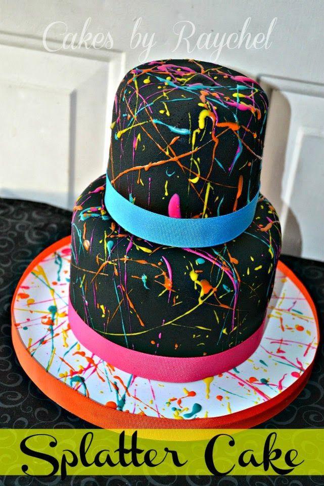 Paint Splatter Cake. DIY TIPS