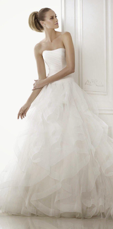 Pronovias 2015 Bridal Collections - Part 1 - Belle the Magazine . The Wedding Blog For The Sophisticated Bride http://FashionCognoscente.blogspot.com