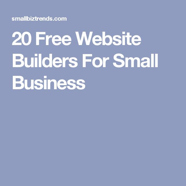 20 Free Website Builders For Small Business
