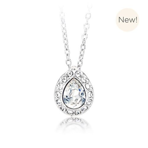 Christie Pear Pendant with Clear Swarovski® Crystal