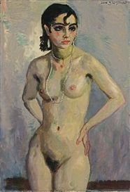 Artwork by Jan Sluijters, NUDE WITH PEARLS