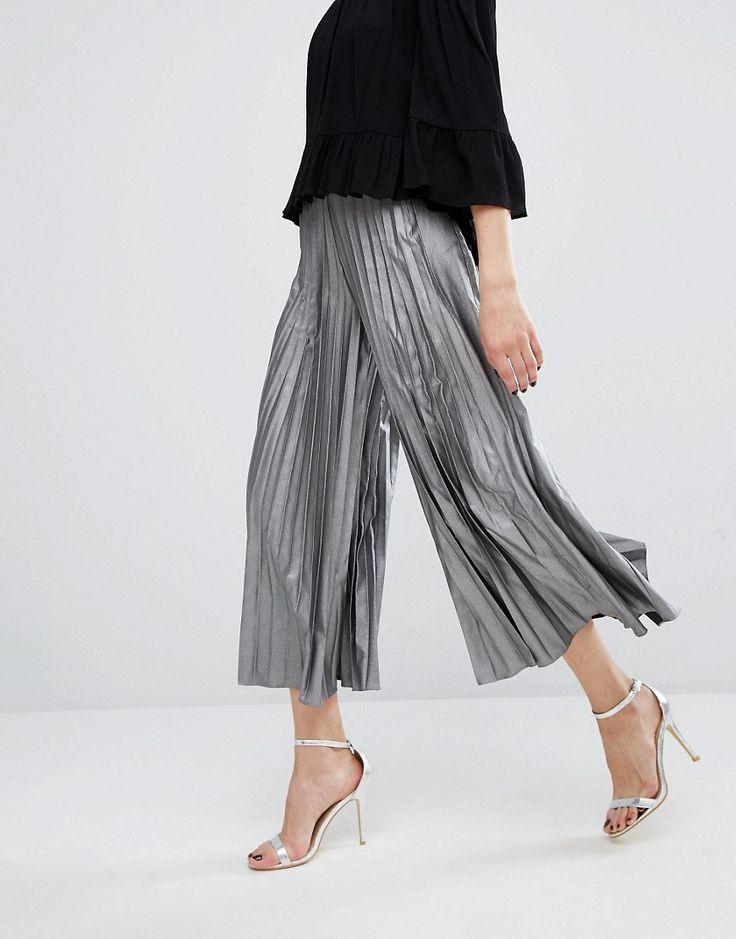 Imagen 4 de Falda pantalón con diseño plisado y largo peculiar de True Decadence…