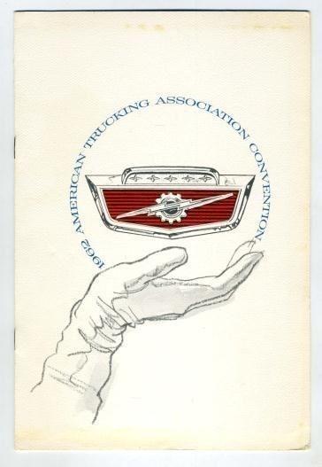 American Trucking Association Lunch Menu Conrad Hilton Chicago 1962 FORD   | eBay