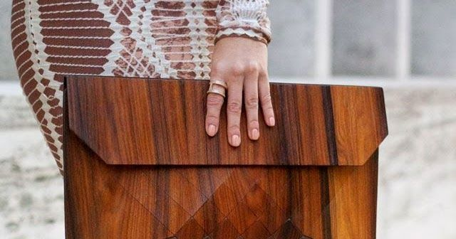 MoD Must Haves   stylish, modern, novel   for fashion lovers            I'm in love with these architectural wood skin purses constructed ...