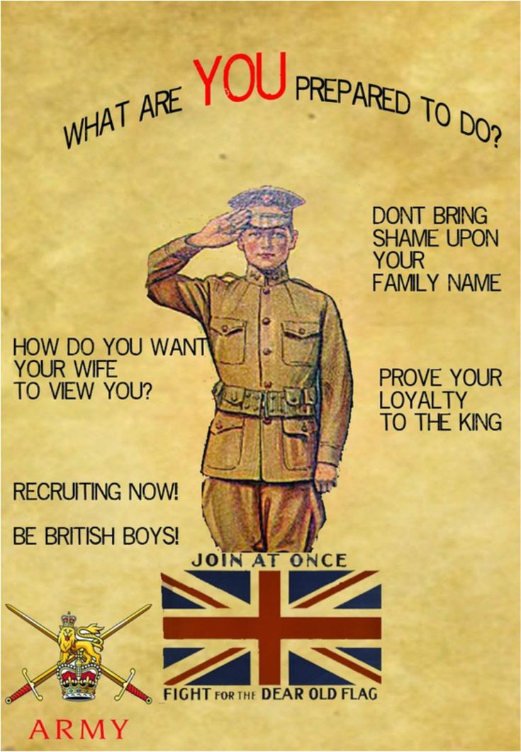 WWI recruitment poster. -David Doughty (@DavidWDoughty) | Twitter