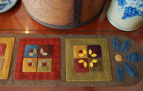 Apliques de lana modelo Azul de la pradera por HorseAndBuggyCountry