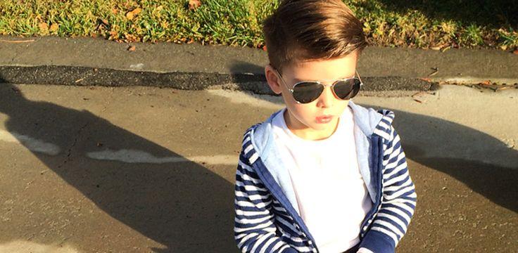 Ryker Wixom, el niño que copia a la perfección el look de los famosos