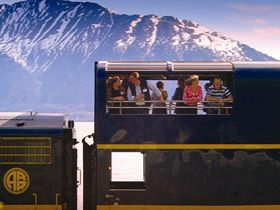 Alaska Railroad Anchorage to Denali Park - GoldStar Dome Train  This would be so fun!