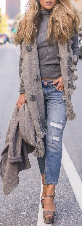 Jeans & heels – River Island / Polo – Gina Tricot #jeans