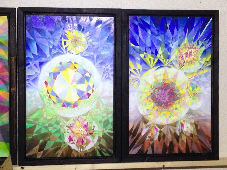 Zwei neu entstandene Bilder mit Polygonen
