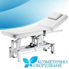Качествено професионално козметично легло с електромотор  Функционално легло за козметика със стилен дизайн. Моделът се отличава със здравина и стабилност.  Оборудван е с електромотор за лесна и прецизно регулиране на височината. Настройката се извършва бързо с дистанционно управление.