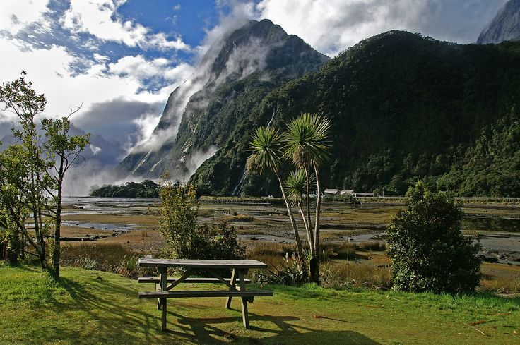 Picnic Table, Milford Sound