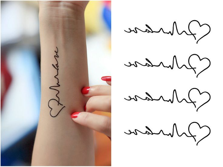 Ms de 25 ideas increbles sobre Tatuajes de latido del corazn en