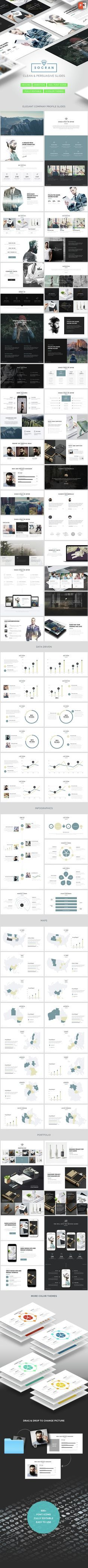 SOCRAN - Clean & Modern Powerpoint Template (PowerPoint Templates)