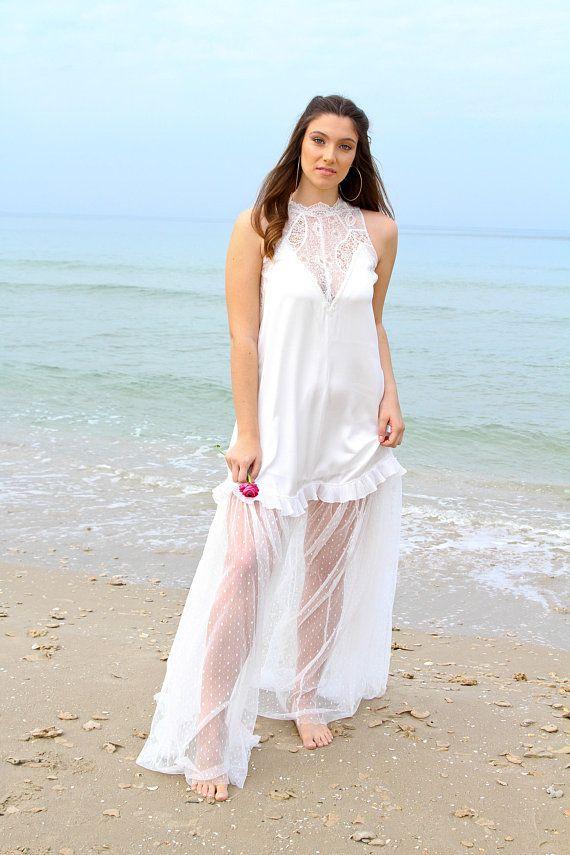 Wedding Dress, Beach Wedding Dress, Lace Wedding Dress, Boho Wedding ...