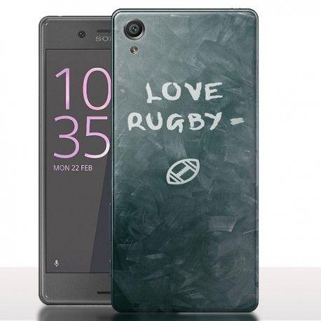 #Coque #xperiax #Love #Rugby donnez un look sportif a votre smartphone. #mycoque #mycase