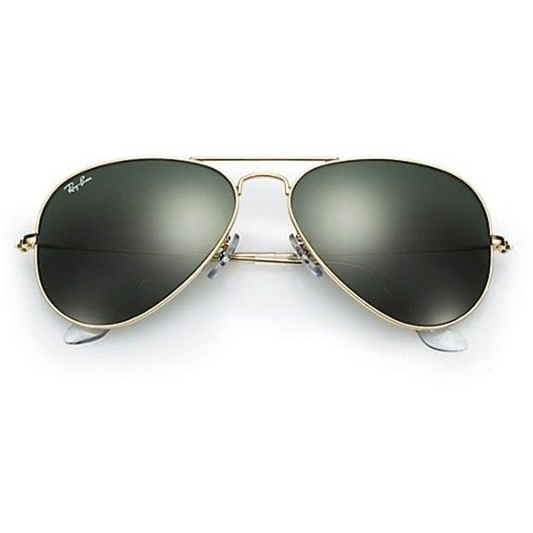 Ray-Ban Aviator Classic Sunglasses ($99) ❤ liked on Polyvore featuring accessories, eyewear, sunglasses, blue blocking glasses, blue lens aviators, uv protection sunglasses, blue aviators and aviator sunglasses
