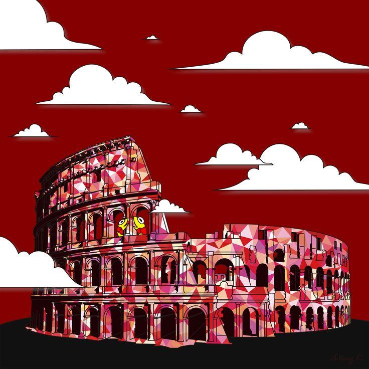 "by. JuYoung.K [콜로세움(Colosseum)],  2015, digital image, ""A"" 구매 문의 : +8210. 8567. 1639   Facebook : https://www.facebook.com/JuyoungK89 Blog : http://blog.naver.com/juyoungk89 Twitter : @JuYoungK89 tumblr : http://juyoungk.tumblr.com/ Kakao Talk ID : idealWorld  #Colosseum #landscape #cityscape #art #artwork #cloud #Sun #fish #animal #digitalimage #digital_image #fineart #illustration"