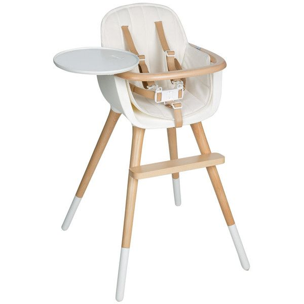 Micuna Ovo Deluxe White High Chair - Beige Leatherette/White (23.495 RUB) ❤ liked on Polyvore featuring home, children's room, children's furniture, kids and white