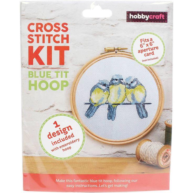 Blue Tits Cross Stitch Hoop Kit | Hobbycraft
