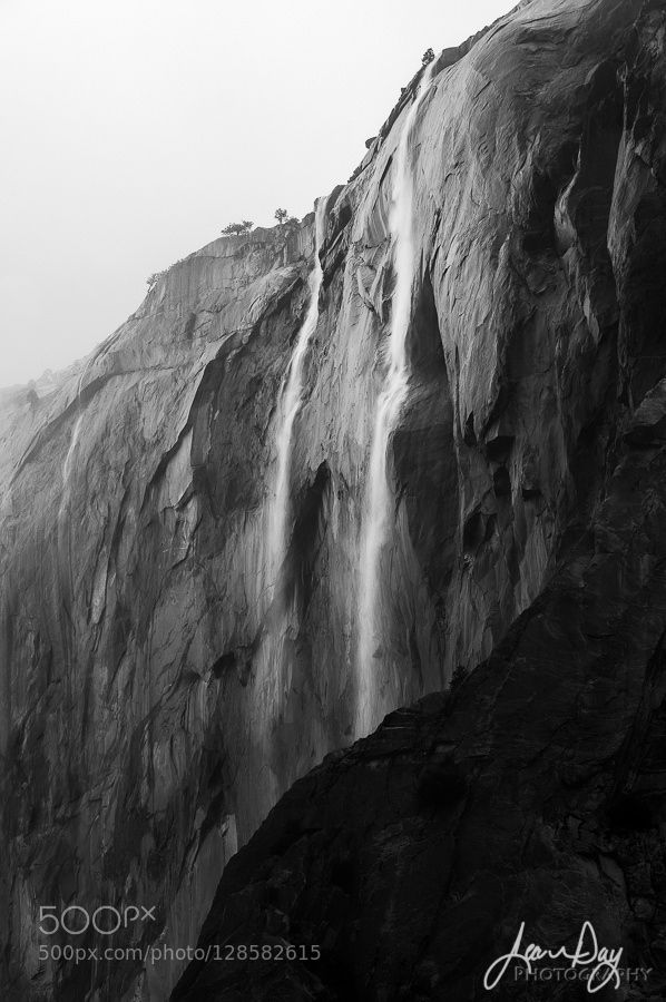Horsetail Falls x2 - Pinned by Mak Khalaf  Jean Day For prints licensing and workshops please contact me directly here: info@jeandayphotography.com or visit my website at http://ift.tt/1aiDyqO On November 2nd of this year we finally received a good dose of weather here in California. I was happy to be in Yosemite seeing so many waterfalls pouring down her many granite cliffs. The rain continued to fall through the day and snow began accumulating at the top of the valley and higher…