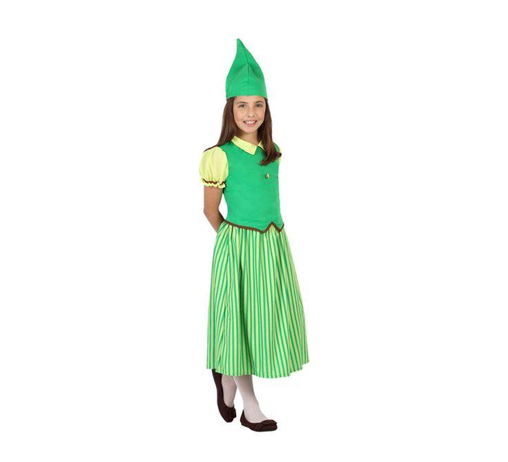 #Disfraz de #Duende verde #Irlandesa para niña. #saintpatrick #stpatrick #sanpatricio #disfraces #disfrazzes #costume #costumes