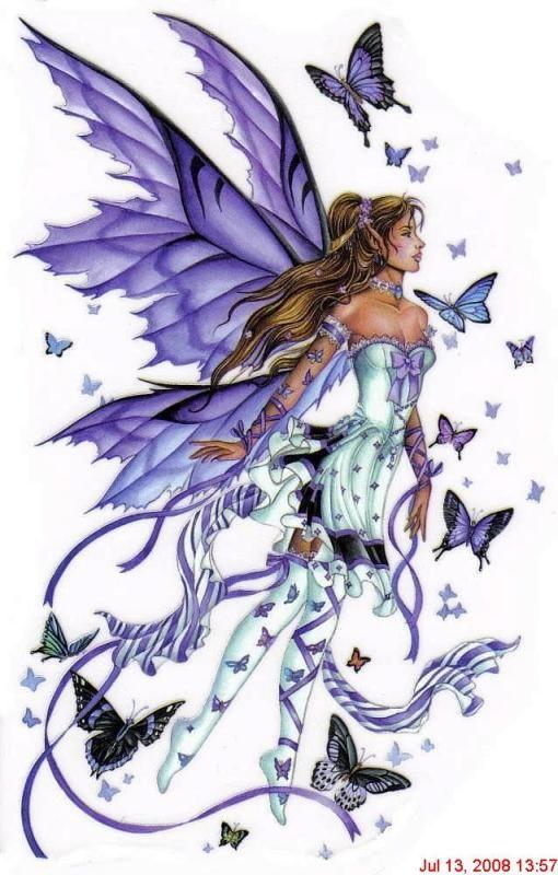lavender fairy & butterflys
