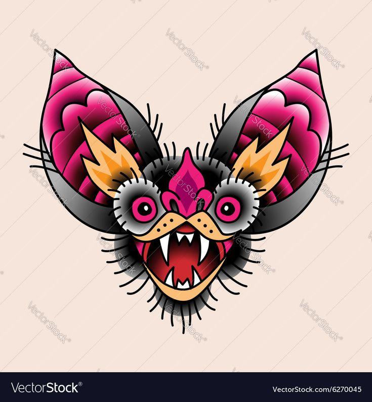 Bat Tattoo Lizenzfreie Vektorgrafiken kaufen – VectorStock, #AFFILIATE, #Royalty, #tatt …   – Responsive Web Templates