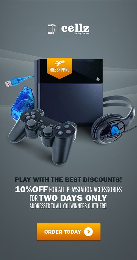 Play with the best discounts! Wii accessories and Playstation consoles at best deals #discounts #accessories #games #deals #offers #discounts #playstation #wii #cellz