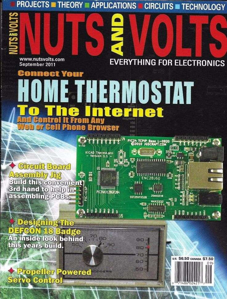 Nuts and Volts magazine Internet home thermostat Circuit board assembly Defcon
