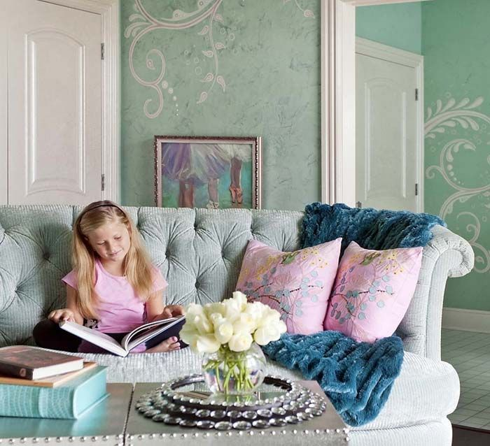 Turquoise children's room for girls   Ideas for Home Garden Bedroom Kitchen - HomeIdeasMag.com