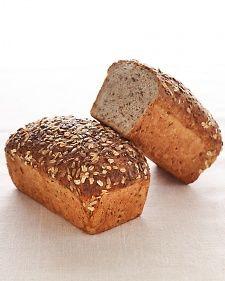 Multigrain bread: whole wheat flour, rye flour, wheat berries, oats, bulger, sunflower seeds. whew.