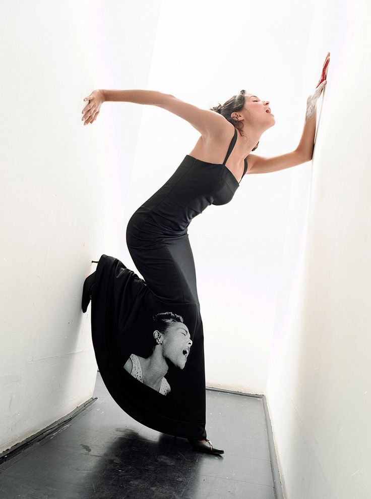 Original Billie Holiday Photo Print Stretch Satin Bodycon Column Maxi Dress on framestr.com