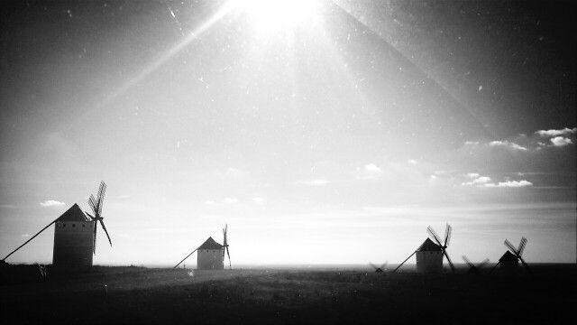 Los gigantes del Quijote. Sierra de los molinos.