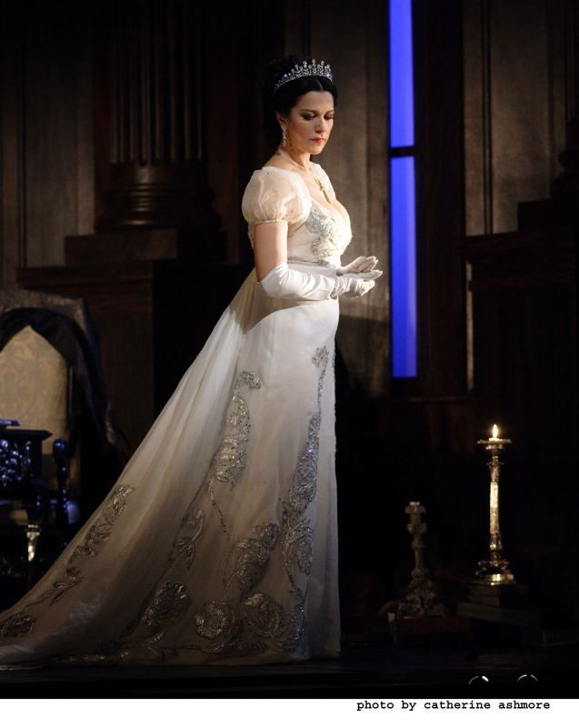 Angela Gheorghiu in Tosca. The Same Gown from the front.